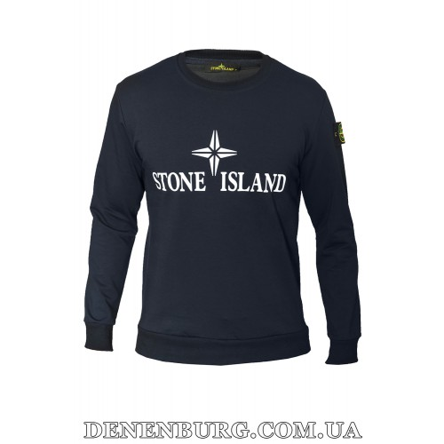 Свитшот мужской STONE ISLAND 19-526 тёмно-синий