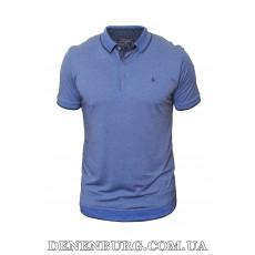 Футболка-поло мужская LE GUTTI 20-1537-57 синяя