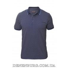 Футболка-поло мужская LE GUTTI 20-1726-02 тёмно-синяя