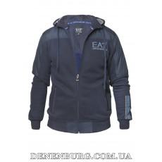 Костюм спортивный мужской утеплённый ARMANI 20-6767 тёмно-синий