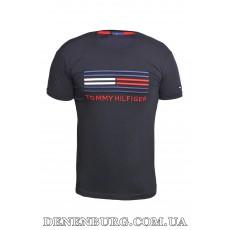 Футболка мужская TOMMY HILFIGER 20-Y-6016 тёмно-синяя