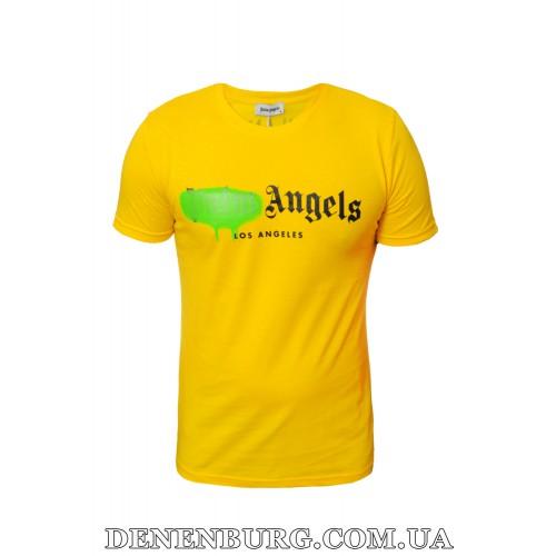 Футболка мужская PALM ANGELS 20-1065 жёлтая