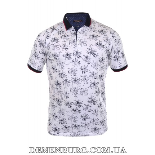 Футболка-поло мужская LE GUTTI 21-1523-61 белая